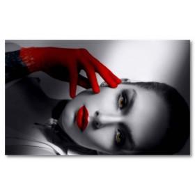 Αφίσα (γυναίκα, πάθος, κόκκινος, χείλη)
